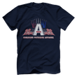Load image into Gallery viewer, Print Brains Port & Co US Made Cotton Tee / Navy / S American Patriots Apparel Jet Contrails Tee (6 Variants)