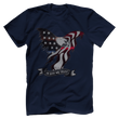Load image into Gallery viewer, Print Brains Port & Co US Made Cotton Tee / Navy / S In God We Trust Eagle T-Shirt (6 Variants)