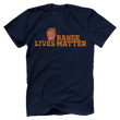 Load image into Gallery viewer, Print Brains Port & Co US Made Cotton Tee / Navy / S Orange Lives Matter (6 Variants)