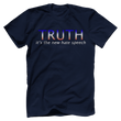 Load image into Gallery viewer, Print Brains Port & Co US Made Cotton Tee / Navy / S TRUTH It's The New Hate Speech T-Shirt (6 Variants)