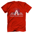 Load image into Gallery viewer, Print Brains Port & Co US Made Cotton Tee / Red / S American Patriots Apparel Jet Contrails Tee (6 Variants)