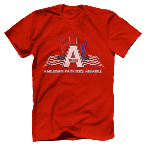Print Brains Port & Co US Made Cotton Tee / Red / S American Patriots Apparel Jet Contrails Tee (6 Variants)