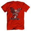 Load image into Gallery viewer, Print Brains Port & Co US Made Cotton Tee / Red / S In God We Trust Eagle T-Shirt (6 Variants)