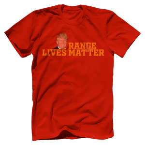 Print Brains Port & Co US Made Cotton Tee / Red / S Orange Lives Matter (6 Variants)