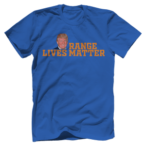 Print Brains Port & Co US Made Cotton Tee / Royal Blue / S Orange Lives Matter (6 Variants)