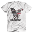 Load image into Gallery viewer, Print Brains Port & Co US Made Cotton Tee / White / S In God We Trust Eagle T-Shirt (6 Variants)