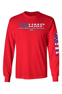 American Patriots Apparel Red / 4XL / FRONT Unisex Trump USA Make America Even Greater Long Sleeve Shirt