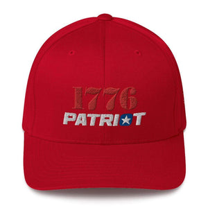 American Patriots Apparel Red / S/M 1776 (Red) Patriot (White) Flexfit Structured Twill Hat (7 Variants)