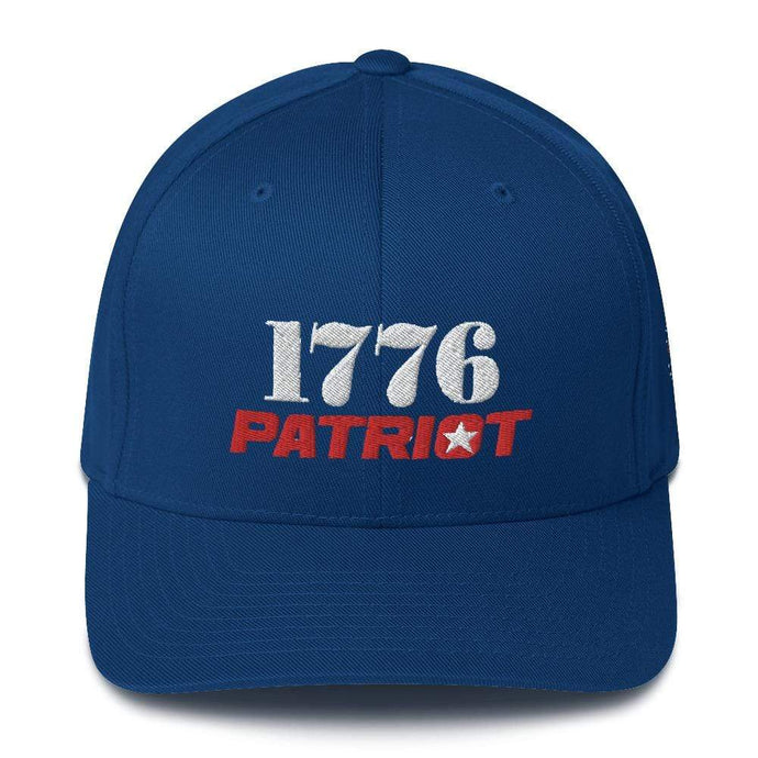 American Patriots Apparel Royal Blue / S/M 1776 (White) Patriot (Red) Flexfit Structured Twill Hat (7 Variants)