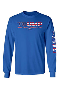 American Patriots Apparel RoyalBlue / 5XL / FRONT Unisex Trump USA Make America Even Greater Long Sleeve Shirt
