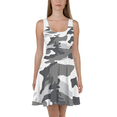 American Patriots Apparel Skater Dress XS / Snow Camo Snow Camo Skater Dress