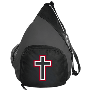 CustomCat Sling Pack Black/Dark Charcoal / One Size Red and White Cross BG206 Active Sling Pack (4 Variants)
