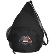 Load image into Gallery viewer, CustomCat Sling Pack Black / One Size God Bless America Heart Hands BG206 Active Sling Pack (4 Variants)