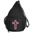 Load image into Gallery viewer, CustomCat Sling Pack Black / One Size Red and White Cross BG206 Active Sling Pack (4 Variants)