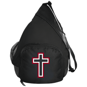 CustomCat Sling Pack Black / One Size Red and White Cross BG206 Active Sling Pack (4 Variants)