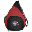 Load image into Gallery viewer, CustomCat Sling Pack Black/True Red / One Size God Bless America Heart Hands BG206 Active Sling Pack (4 Variants)