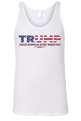 American Patriots Apparel SMALL / FRONT / White Unisex Trump USA Make America Even Greater Tank Top