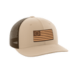 Load image into Gallery viewer, Print Brains Snapback Hat 13 Colonies Leather Patch Hat / Khaki/Coffee / One Size 13 Colonies Leather Patch Hat (6 Variants)