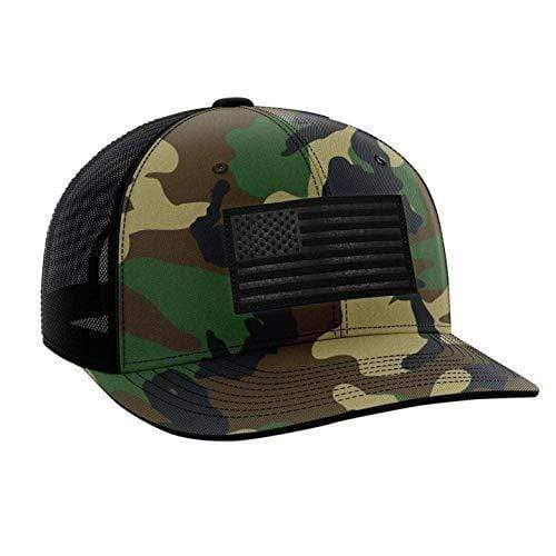 Tactical Pro Supply Snapback Hat Army Camo / Camo/Black / OSFA American Flag Snapback Hat (6 Variants)