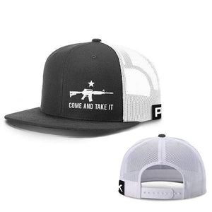 Printed Kicks Snapback Hat Black And White / Snapback Flatbill Hat / OSFA Come and Take It Lower Left Hats (13 Variants)