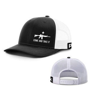 Printed Kicks Snapback Hat Black And White / Snapback Hat / OSFA Come and Take It Lower Left Hats