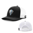 Load image into Gallery viewer, Printed Kicks Snapback Hat Black And White / Snapback Hat / OSFA Thin Blue Line (TBL) Punisher Snapback Hat (14 Variants)