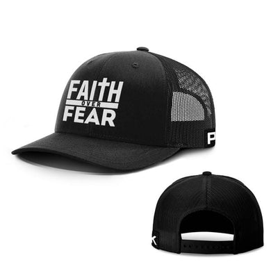 Printed Kicks Snapback Hat Black / Snapback Hat / OSFA Faith Over Fear Snapback Hat (9 Variants)