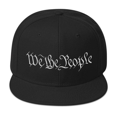 American Patriots Apparel Snapback Hat Black We The People 'Merica White Text Snapback Hat (17 Variants)