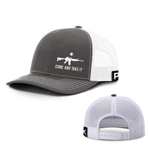 Printed Kicks Snapback Hat Charcoal And White / Snapback Hat / OSFA Come and Take It Lower Left Hats