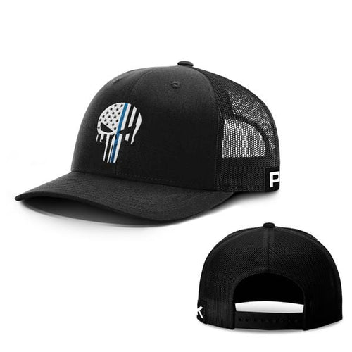 Printed Kicks Snapback Hat Full Black / Snapback Hat / OSFA Thin Blue Line (TBL) Punisher Snapback Hat (14 Variants)