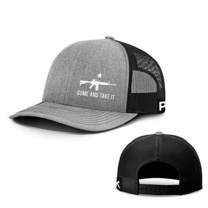 Printed Kicks Snapback Hat Heather And Black / Snapback Hat / OSFA Come and Take It Lower Left Hats