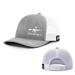 Printed Kicks Snapback Hat Heather And White / Snapback Hat / OSFA Come and Take It Lower Left Hats