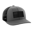 Load image into Gallery viewer, Tactical Pro Supply Snapback Hat Heather Gray / Heather Gray/Black / OSFA American Flag Snapback Hat (6 Variants)