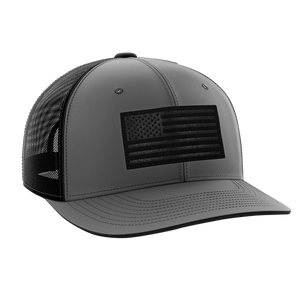 Tactical Pro Supply Snapback Hat Heather Gray / Heather Gray/Black / OSFA American Flag Snapback Hat (6 Variants)