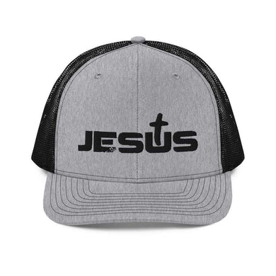 American Patriots Apparel Snapback Hat Heather Grey / Black Jesus King of the Jews Cross Black Text Snapback Hat (3 Variants)