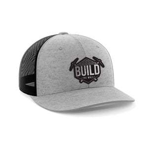 Greater Half Snapback Hat Hthgry/Black / OSFA Build The Wall Black Leather Patch Hat (7 Variants)