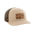 Load image into Gallery viewer, Print Brains Snapback Hat I Plead The 2nd Leather Patch Hat / Khaki/Coffee / One Size I Plead The 2nd Leather Patch Hat (6 Variants)