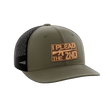 Load image into Gallery viewer, Print Brains Snapback Hat I Plead The 2nd Leather Patch Hat / OD Green/Black / One Size I Plead The 2nd Leather Patch Hat (6 Variants)