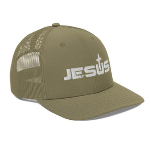 American Patriots Apparel Snapback Hat Jesus King of the Jews Cross White Text Snapback Hat (5 Variants)