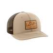 Load image into Gallery viewer, Print Brains Snapback Hat Join or Die Leather Patch Hat / Khaki/Coffee / One Size Join or Die Leather Patch Hat (12 Variants)