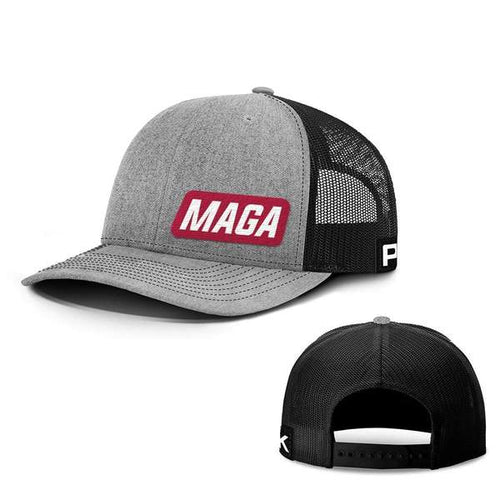 Printed Kicks Snapback Hat MAGA Lower Left Back Mesh Hat (10 Variants)