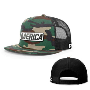 Printed Kicks Snapback Hat Merica White Leather Patch Snapback Hat (15 Variants)