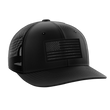 Load image into Gallery viewer, Tactical Pro Supply Snapback Hat Midnight Flag / Black/Black / OSFA American Flag Snapback Hat (6 Variants)