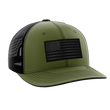 Load image into Gallery viewer, Tactical Pro Supply Snapback Hat Military Green / Military Green/Black / OSFA American Flag Snapback Hat (6 Variants)