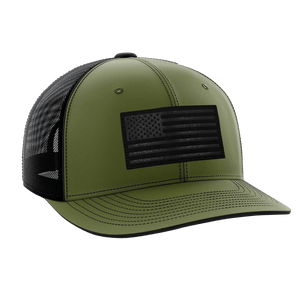 Tactical Pro Supply Snapback Hat Military Green / Military Green/Black / OSFA American Flag Snapback Hat (6 Variants)