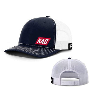 Printed Kicks Snapback Hat Navy And White / Snapback Hat / OSFA Keep America Great Back Mesh Hat (10 Variants)