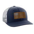 Load image into Gallery viewer, Tactical Pro Supply Snapback Hat Navy Blue / Navy/White/Gold / OSFA American Flag Snapback Hat (6 Variants)