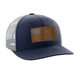 Tactical Pro Supply Snapback Hat Navy Blue / Navy/White/Gold / OSFA American Flag Snapback Hat (6 Variants)