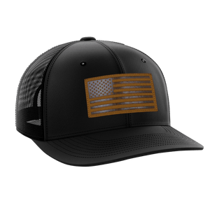 Tactical Pro Supply Snapback Hat Old Glory / Black/Gold / OSFA American Flag Snapback Hat (6 Variants)