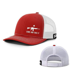 Printed Kicks Snapback Hat Red And White / Snapback Hat / OSFA Come and Take It Lower Left Hats